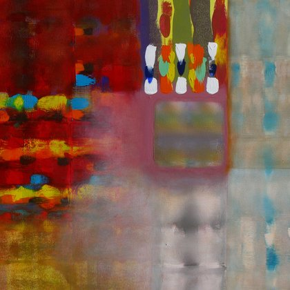 , Color Storm At The Piazza, Abstract, $2,205
