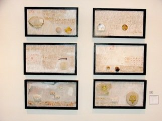 Collage by Hope Brooks titled: Shells and Stones revisited, 2008