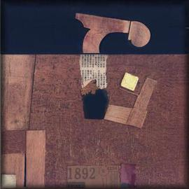 Istvan Horkay Artwork Museum Factory, 2001 Collage, Abstract