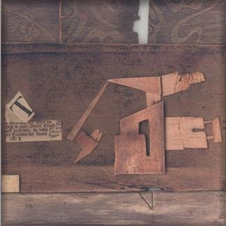Collage by Istvan Horkay titled: Museum Factory, 2001