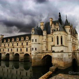 Harvey Horowitz: 'Chateau Cenenceau', 2008 Color Photograph, Inspirational. Artist Description:  Chateau Cenenceau / Loire Valley, France ...