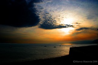 Color Photograph by Harvey Horowitz titled: Clovelly Harbour Sunset, created in 2008