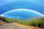 Artist: Harvey Horowitz - Title: Gaspe Double Rainbow - Medium: Color Photograph - Year: 2006