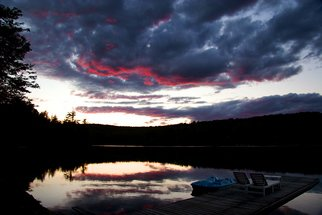 Color Photograph by Harvey Horowitz titled: Laurentian Sunset, created in 2008