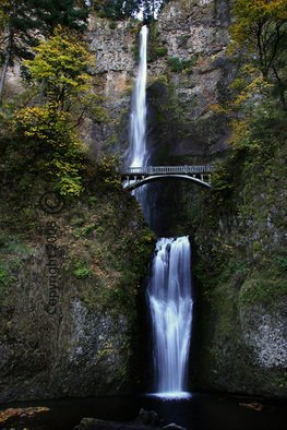 Color Photograph by Harvey Horowitz titled: Multnomah Falls, created in 2008