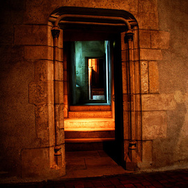 Harvey Horowitz: 'The Entrance', 2008 Color Photograph, Inspirational. Artist Description:  Doorway in the Jacques Coeurs Chateau, Loire Valley, France ...