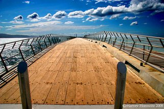 Color Photograph by Harvey Horowitz titled: The Pier, created in 2008
