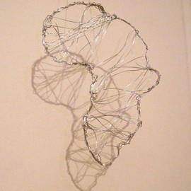 Houda Khalladi: 'africa', 2012 Steel Sculpture, Abstract Landscape. Artist Description:    nature   ...