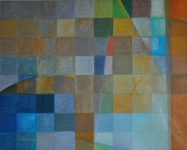 Howard Brotman  'Untitled Grid Series', created in 2009, Original Painting Acrylic.