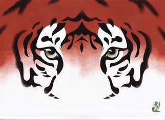 Artist: Hubert Cance - Title: Eyes: Bengal Tiger - Medium: Acrylic Painting - Year: 2008