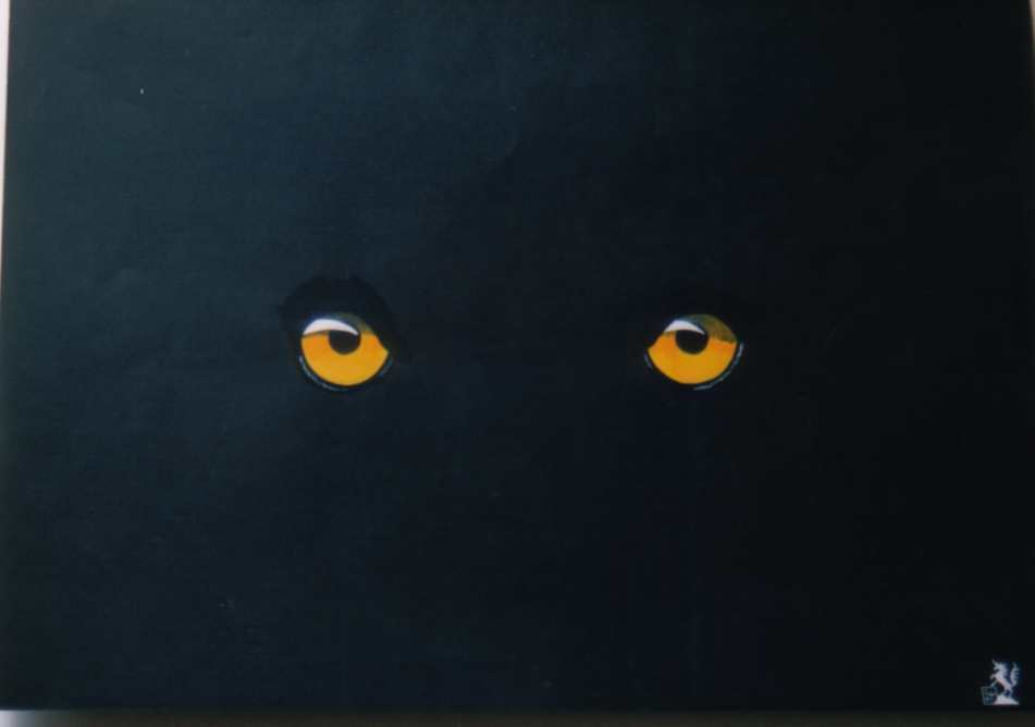 Pin black panther eyes 1920x1200jpg on pinterest for Acrylic painting on black background