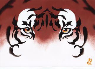 Artist: Hubert Cance - Title: Eyes: Chinese Tiger - Medium: Acrylic Painting - Year: 2008