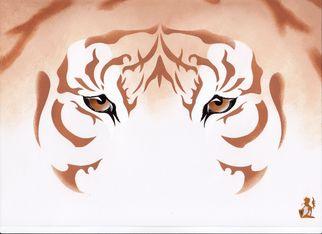 Artist: Hubert Cance - Title: Eyes: Golden Tiger 3 - Medium: Acrylic Painting - Year: 2008