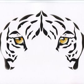 Eyes: Indian White Tiger