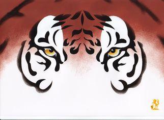 Artist: Hubert Cance - Title: Eyes: Siberian Tiger - Medium: Acrylic Painting - Year: 2008