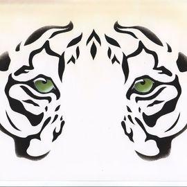 Eyes: Siberian White Tiger