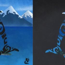 Glyphins Dyptich: Maori Dolphin