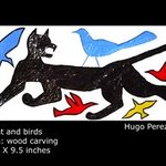 Cat and birds By Hugo Perez