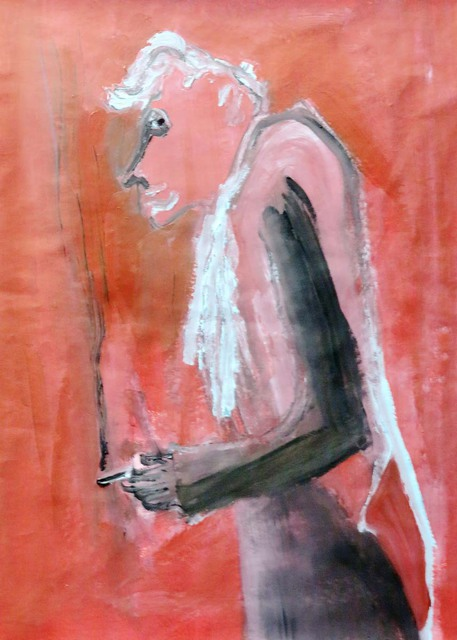 Mert Ulcay  'Cigarette In The Hand', created in 2014, Original Painting Oil.