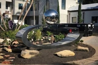 Hunter Brown: 'eclipse', 2019 Steel Sculpture, Abstract. Eclipse is a contemporary stainless steel sculpture designed and commissioned to be placed at a residence in Winter Park, Florida. ...