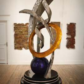 Hunter Brown: 'legacy i', 2018 Steel Sculpture, Abstract. Artist Description: Contemporary stainless steel sculpture constructed in marine grade stainless steel. ...