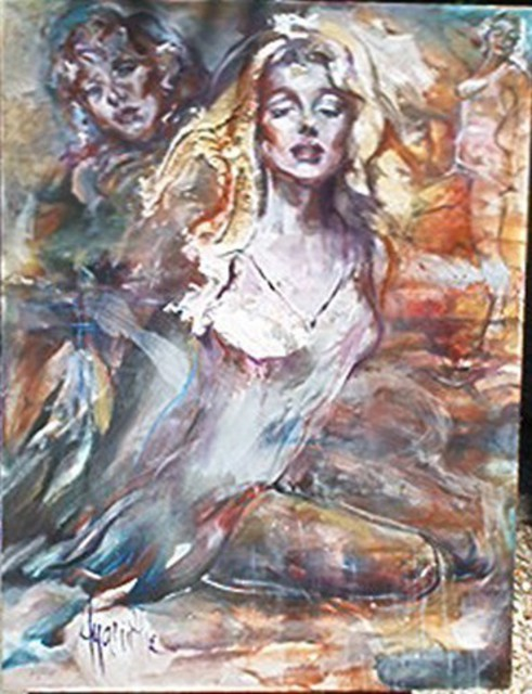 Hyacinthe Kuller-Baron  'Marilyn True', created in 2007, Original Painting Acrylic.