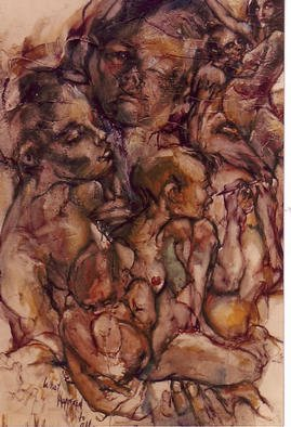 Erotic Oil Painting by Hyacinthe Kuller-baron Title: WHAT HAPPENED TO ALL MY DREAMS, created in 2003