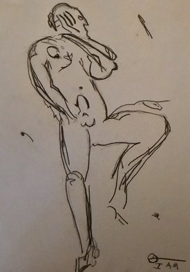 Richard Vanderiet: 'my man', 2018 Pencil Drawing, Erotic. Artist Description: Erotic drawing of nude male...