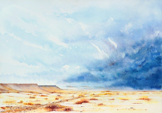 Ian Willis  'Promise Of Rain', created in 2011, Original Watercolor.