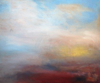 Iana Sophia: 'Clouds', 2016 Oil Painting, Abstract Landscape. Abstract, Landscape, ...