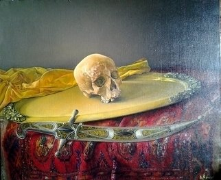 Said Ibrahimov: 'Skull', 2014 Oil Painting, .