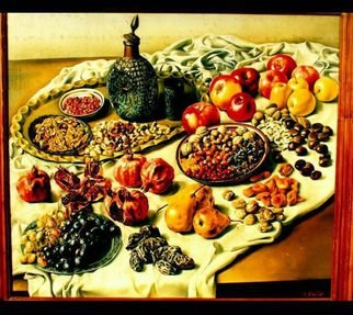 Said Ibrahimov: 'Still life Novruz', 2012 Oil Painting, Food.