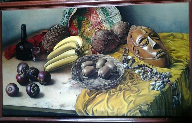 Said Ibrahimov  'African Still Life', created in 1995, Original Painting Oil.