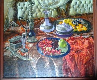 Said Ibrahimov: 'arabic still life', 2001 Oil Painting, .