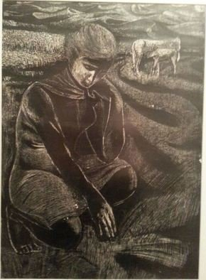 Said Ibrahimov: 'harvest', 1973 Ink Drawing, Undecided. The artwork created by my father Ashraf Ibrahimov. ...