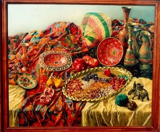 Said Ibrahimov: 'indian still life', 2000 Oil Painting, .