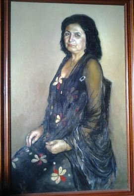 Said Ibrahimov: 'mother s portrait', 1999 Oil Painting, Naturalism.