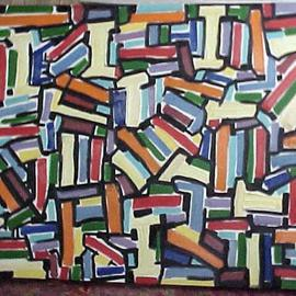Isaac Brown: 'Elementals', 2004 Oil Painting, Abstract.