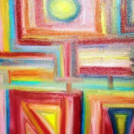 Isaac Brown: 'boxed out', 2005 Oil Painting, Abstract.