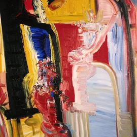 Isaac Brown: 'dream of our marriage', 1997 Oil Painting, Abstract.
