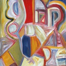 Isaac Brown: 'monkey do', 1998 Oil Painting, Abstract.