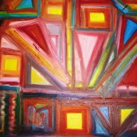 Isaac Brown: 'structure 613', 2005 Oil Painting, Abstract.