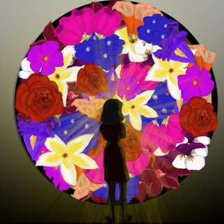 Dina Marie Wilks: 'loreal garden', 2014 Digital Other, Botanical. Artist Description:     Portrait pencil art Digital art poster teddy bears children kids Flowers teen girls ...