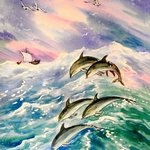 sea and dolphins By Igor Moshkin