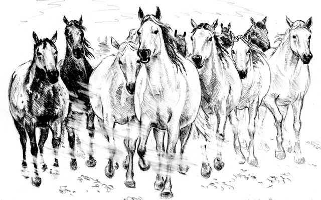 Igor Moshkin  'The Herd Of Horses', created in 2008, Original other.