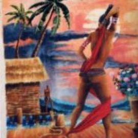 Chuka Machie: 'mutual attraction 1', 2012 Acrylic Painting, Figurative. Artist Description:     figure, nude, erotic     ...