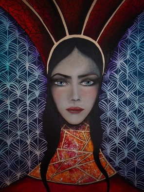 Artist: Le Pors Isabelle - Title: Queen - Medium: Acrylic Painting - Year: 2015