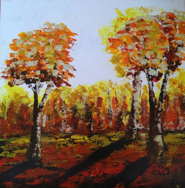 Iliana Ovtcharova  'Autumn', created in 2019, Original Painting Acrylic.