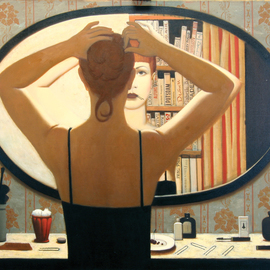 Stanislav Ilin Artwork The Mirror, 2000 Oil Painting, People