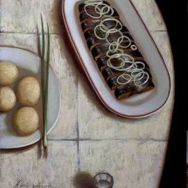 Stanislav Ilin Artwork dinner, 2011 Oil Painting, Still Life
